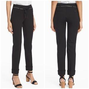 WHBM ponte girlfriend pants black 14 short